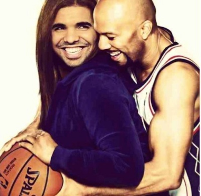 Rapper/Actor Common and his 'Just Wright' co-star Drake/Queen Latifah