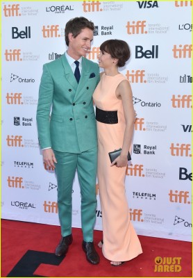 Felicity Jones and co-star Eddie Redmayne
