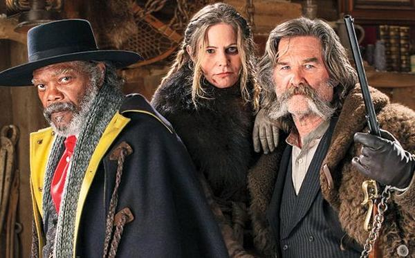Jackson, Leigh, and Russell in 'The Hateful Eight'
