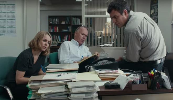 McAdams, Keaton, Ruffalo in 'Spotlight'. All three are in the hunt for Oscar noms.