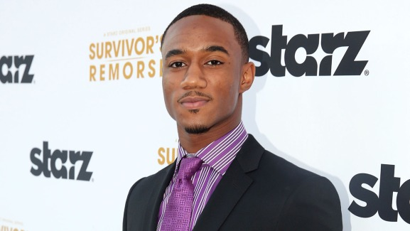 "Jessie T. Usher arrives at the premiere of the STARZ original series ""Survivor's Remorse"" on Tuesday, Sept. 23, 2014 in Los Angeles. ""Survivor's Remorse"" premieres Saturday, Oct. 4 exclusively on STARZ . (Photo by Matt Sayles/Invision for STARZ EntertainmentAP Images)"
